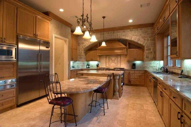 30 unique kitchen island designs decor around the world for Unique kitchen island shapes