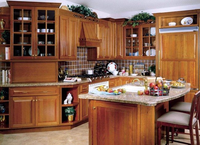 unique kitchen cabinets. Indoor plants placed above the cabinets Unique Kitchen Cabinet Designs You Can Adopt Easily  Decor Around