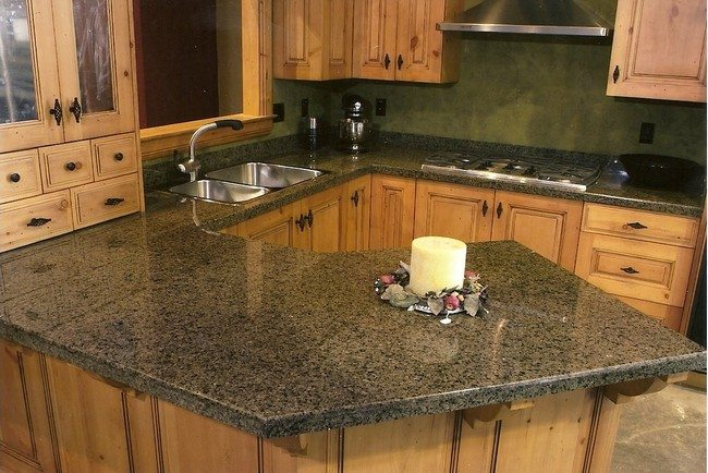 Countertop with built-in candleholder