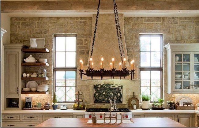 kitchen-decorative-wood-range-hood-with-shelf-and-unique-candle-unique