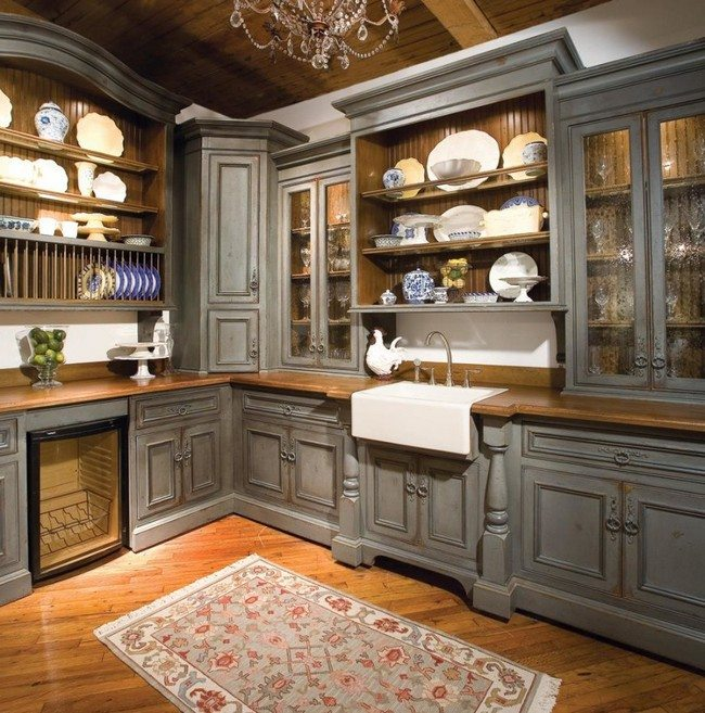 Unique Kitchen Countertop Designs You Can Adopt Decor Around The World - Grey kitchen cabinets with wood countertops