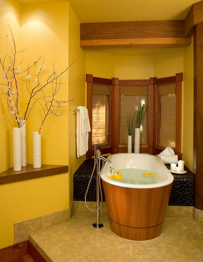 Asian style interior design ideas decor around the world - Relaxing japanese bathroom design for ultimate relaxation bath ...