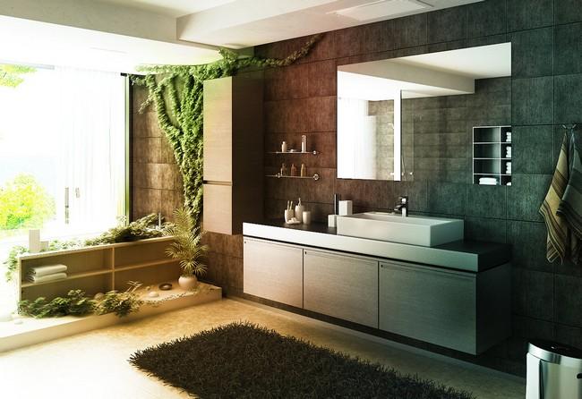 Feng-shui style bathroom