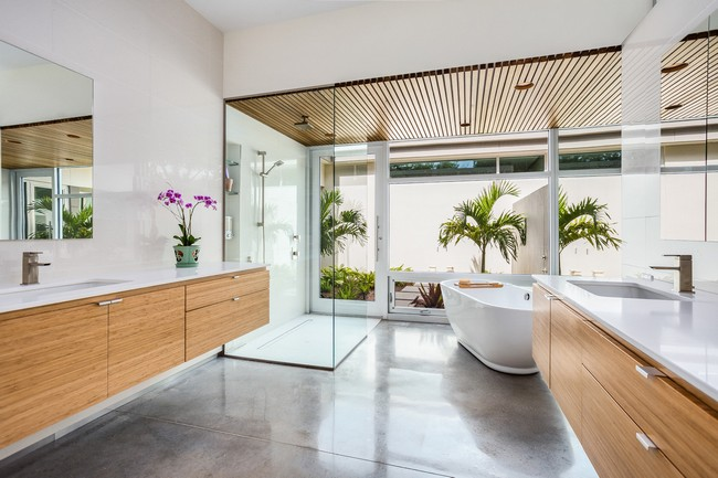 Zen-inspired Asian bathroom