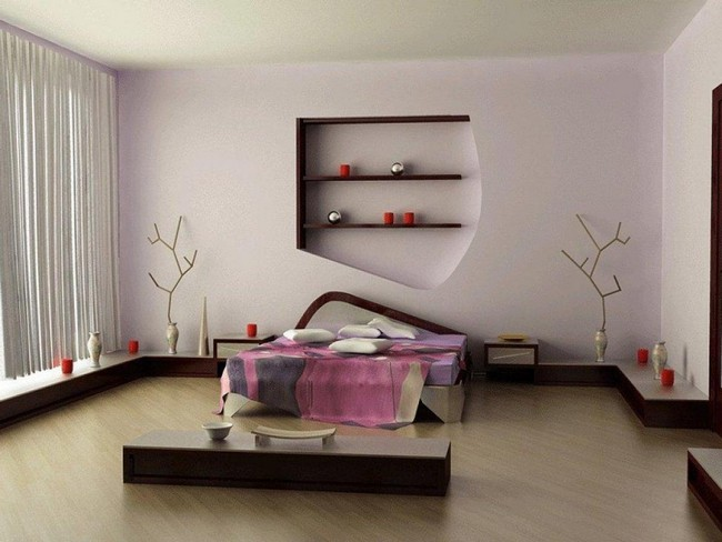 Contemporary Asian-inspired bedroom