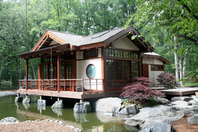 Small house with traditional Asian design