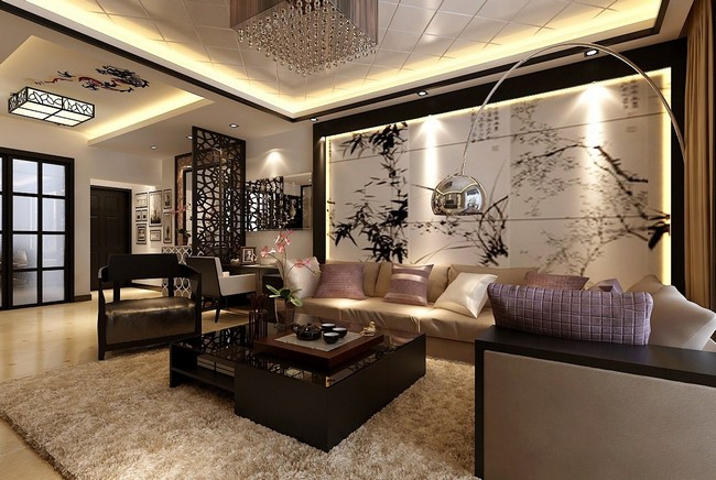 Asian style interior design living room living room for Living room japanese style