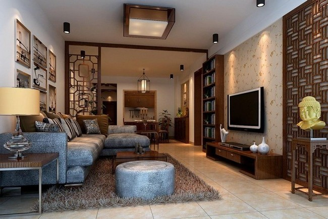 Asian style interior design ideas decor around the world for Living room japanese style