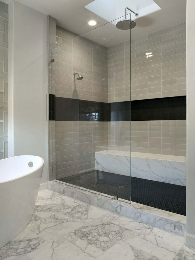 All-marble bathroom