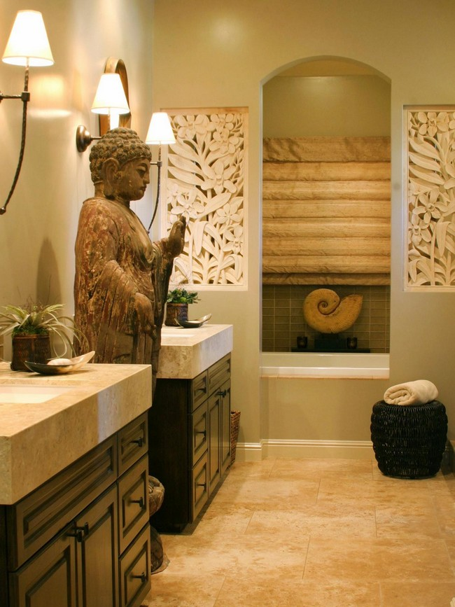 Asian style interior design ideas decor around the world - Oriental bathroom decor ...