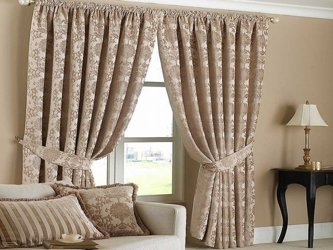 Customized window curtain with curtain holders