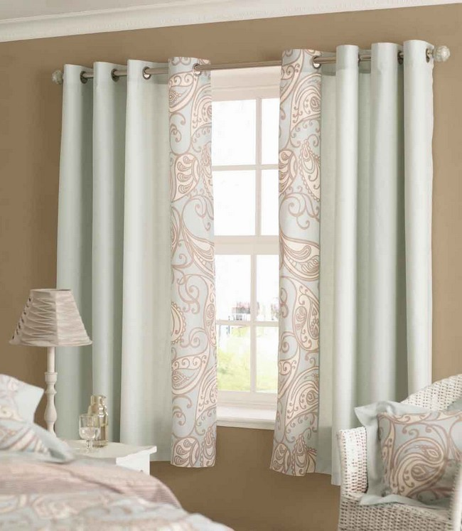elegant curtains with artistic detail - Window Curtain Design Ideas