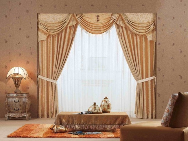 High End Gold Colored Curtains
