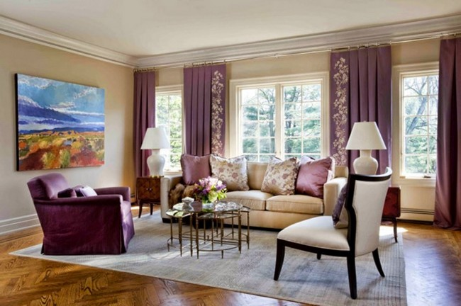 Royal Purple Curtains That Match Room Accessories