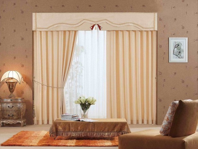 Soft cream curtains with a sheer lining