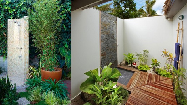Borderless outdoor bathroom