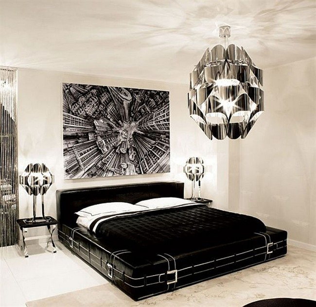 how to transform your bedroom into black and white color scheme
