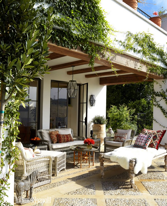 Comfortable terrace furniture, allowing for relaxation