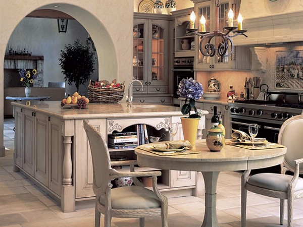 Spanish style kitchen with plenty of antique decor