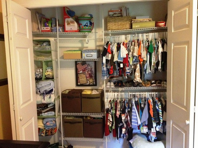 Closet for a young boy