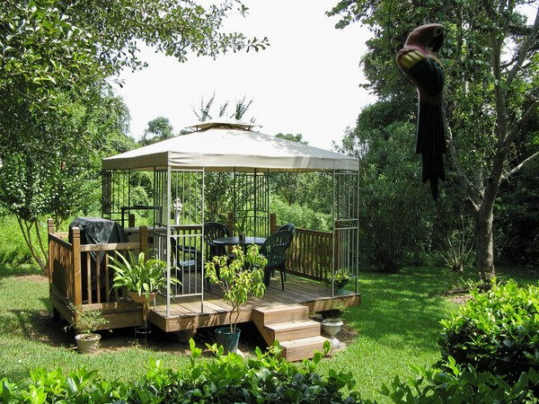 Furniture Choice Is Important As Well When Decorating Your Gazebo. This  Simple Patio Set Made From Natural Material, For Instance, Is A Perfect  Addition To ...