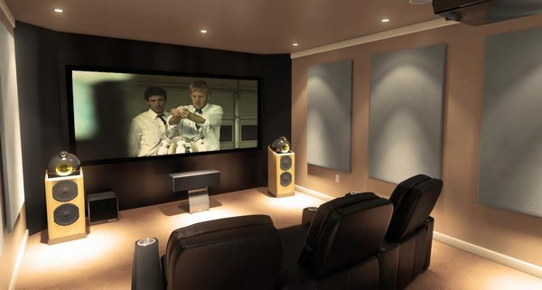 home audio design. For the best sound and audio effects  opt for a rectangular home theater design as opposed to circular or square The screen speakers should Home Theater Designs Bring Extravagance Your With These