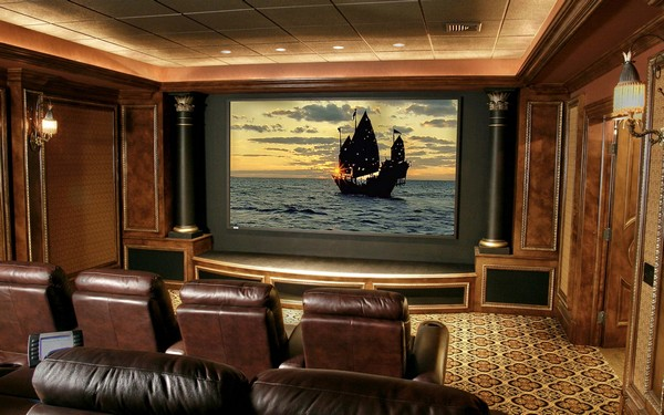 Home theater designs bring extravagance to your home with these extravagant home theater - Stunning images of basement home theater decoration design ideas ...
