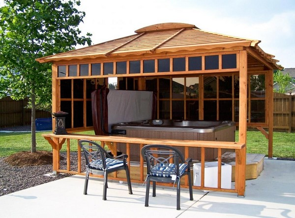 Breathtaking gazebos a range of simple and extragavagant for Spa gazebo kits