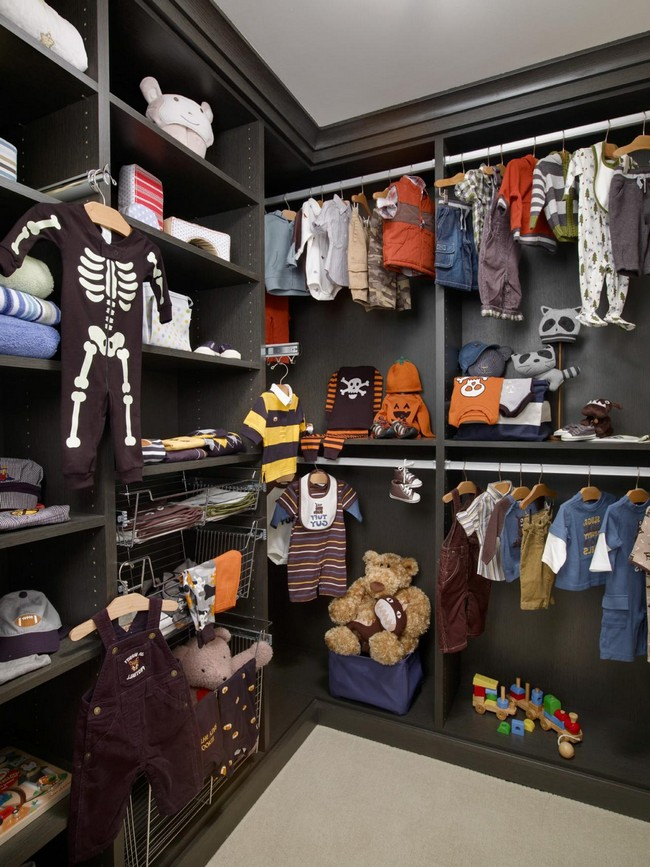 Boys Closet In A Bold Grey