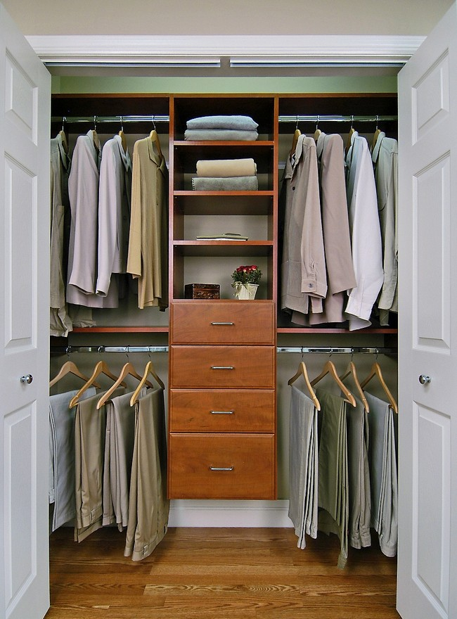 Small minimalist men's closet