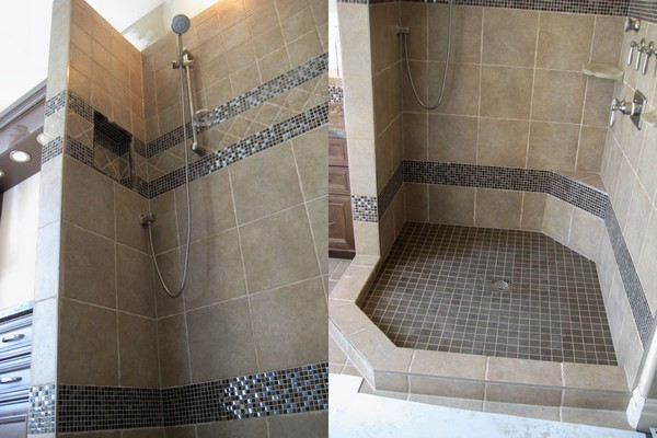Open Shower Ideas Awesome Doorless Shower Creativity Decor Around Adorable Bathrooms With Walk In Showers Concept