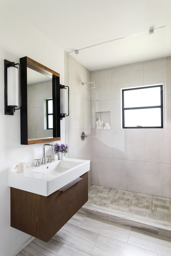 Open shower ideas awesome doorless shower creativity for Open shower bathroom