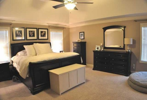 The Deep Brown Tan Used On This Bedroomu0027s Wall Add A Touch Of Luxury And  Elegance, Which Is Magnified By The Classy Antique Items In The Bedroom, ...