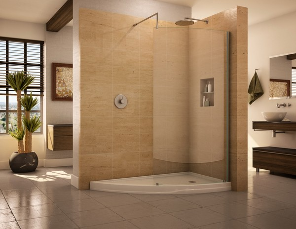 Open Shower Ideas: Awesome Doorless Shower Creativity - Decor Around ...