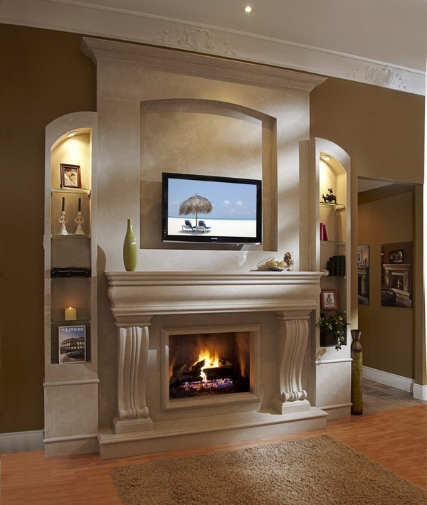 Fireplace mantel ideas how to cozy up your home decor around the world - Fireplace mantel designs in simple and sophisticated style ...
