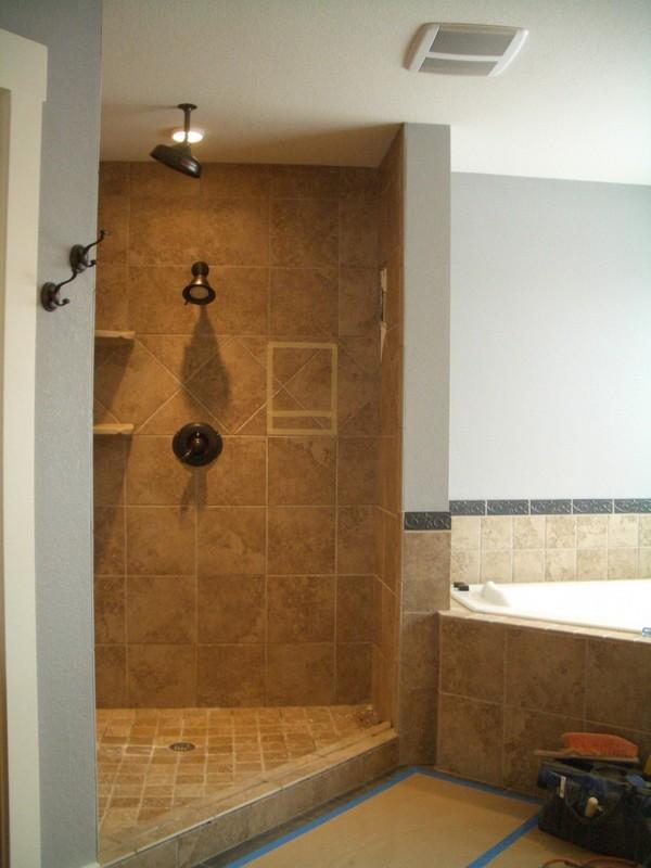 Open Shower Ideas: Awesome Doorless Shower Creativity - Decor Around ...