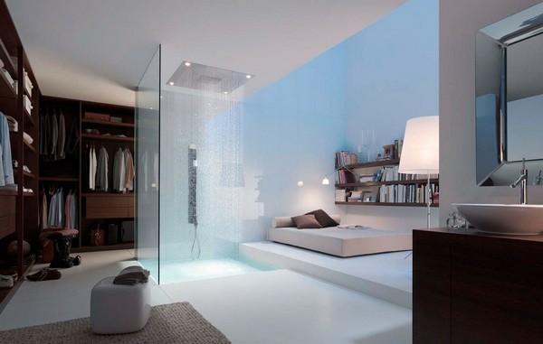 Creatively-designed open shower