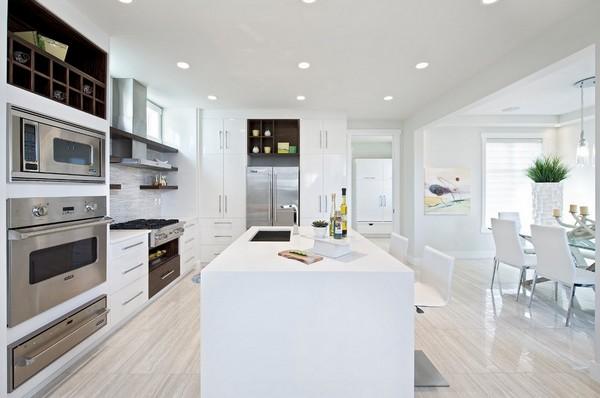 Crisp-clean white kitchen design