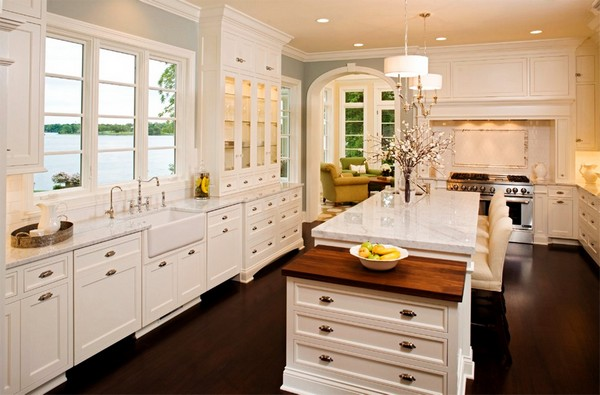 Lighting should be a priority in a white kitchen