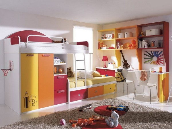 Kids' bedroom that also doubles up as a study room