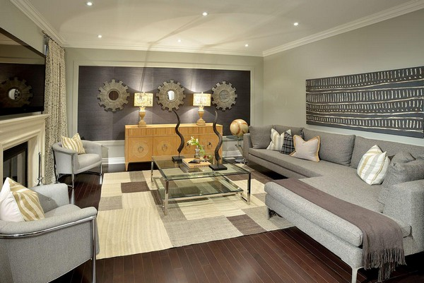 Family room design and d cor traditional and contemporary for Room design normal