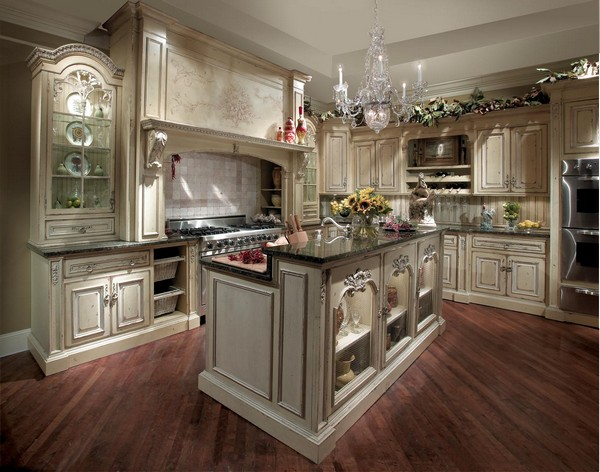 Luxury kitchens how to refine your cooking and dining space decor around t - Table de cuisine ancienne ...