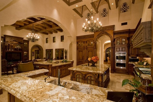 marvelous big kitchen designs | Luxury Kitchens: How To Refine Your Cooking and Dining ...