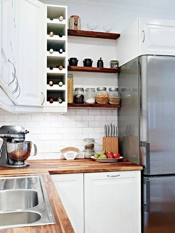 kitchen open shelves design. An open shelving design  especially when painted in light colors like white or bold grey help up the space visually as seen here Open Shelving Kitchen Design Ideas Decor Around The World