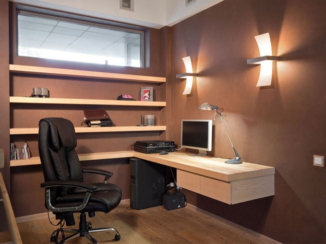 An Important Aspect Of A Home Office Is The Lighting. You Are More  Productive In A Well Lit And Properly Aerated Environment. This Home Office  Manages To ...