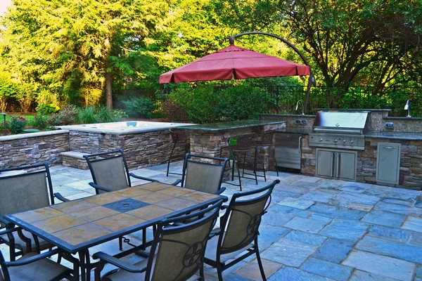 Outdoor Kitchen Creativity: What To Do With That Extra Outdoor Space on pool ideas, garden ideas, backyard ideas, outdoor pool, outdoor fireplaces, outdoor baby ideas, gazebo ideas, living room ideas, fireplace ideas, pergola ideas, outdoor roof ideas, game room ideas, garage ideas, outdoor fridge ideas, fire pit ideas, outdoor kitchens and grills, wet bar ideas, outdoor design ideas, outdoor kitchens on a budget, retaining walls ideas,