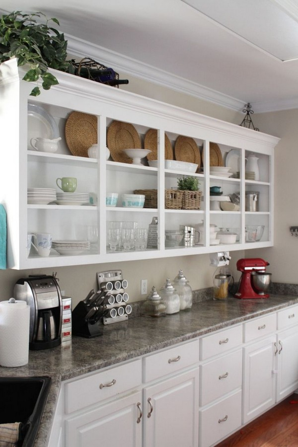 Open Shelves Kitchen Design Ideas Part - 23: If You Want To Lean Towards A Certain Design Style With Your Open Shelving  Design, Then You Have The Freedom To Do That. Open Shelving Designs Are All  About ...