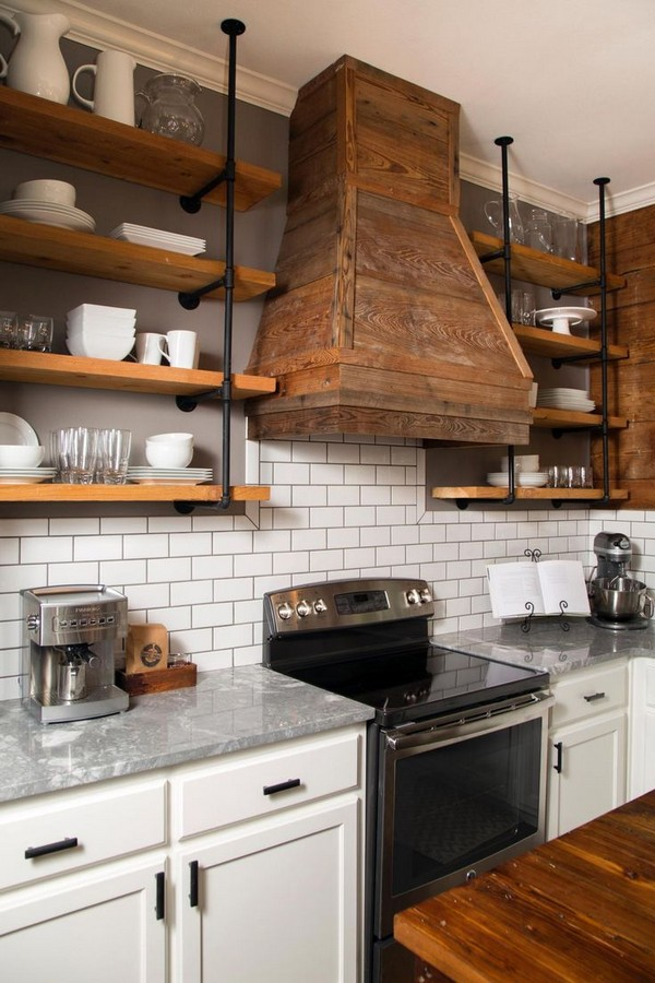 Decorative Metal Kitchen Shelves