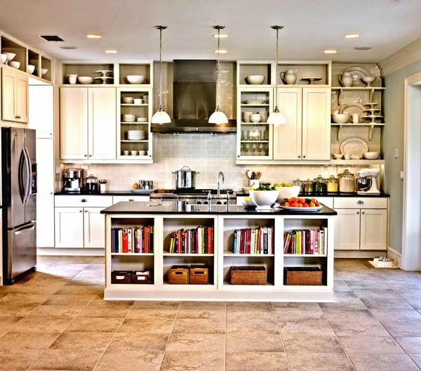 Open Kitchen Shelves Decorating Ideas: Open Shelving Kitchen Design Ideas