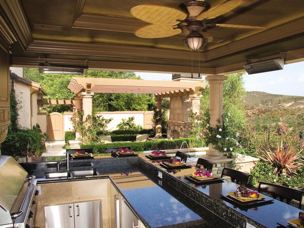 if you would like the experience of an outdoor kitchen but do not wish to adopt a fully outdoor kitchen design then you can make the outdoor and indoor - The Outdoor Room
